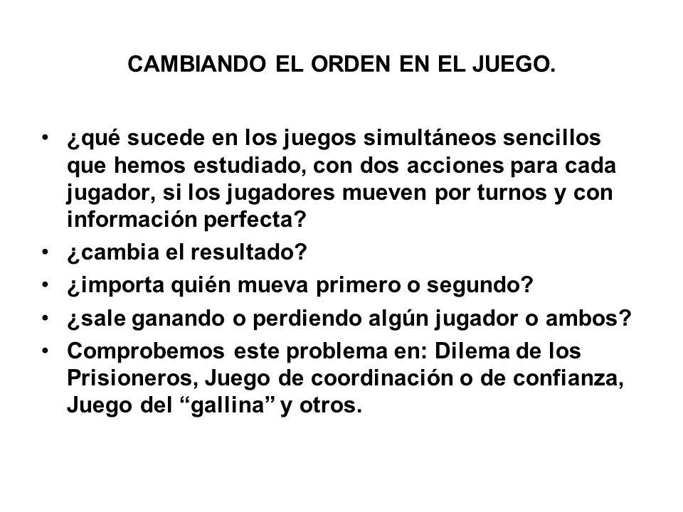 CAMBIANDO EL ORDEN EN EL JUEGO.