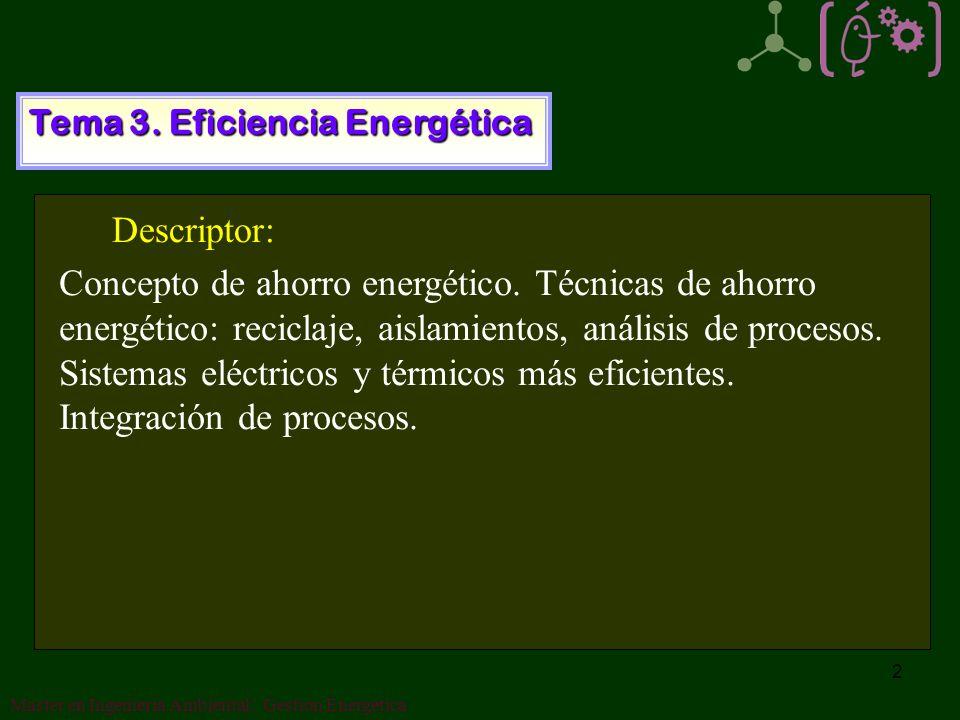 2 Tema 3.Eficiencia Energética Concepto de ahorro energético.