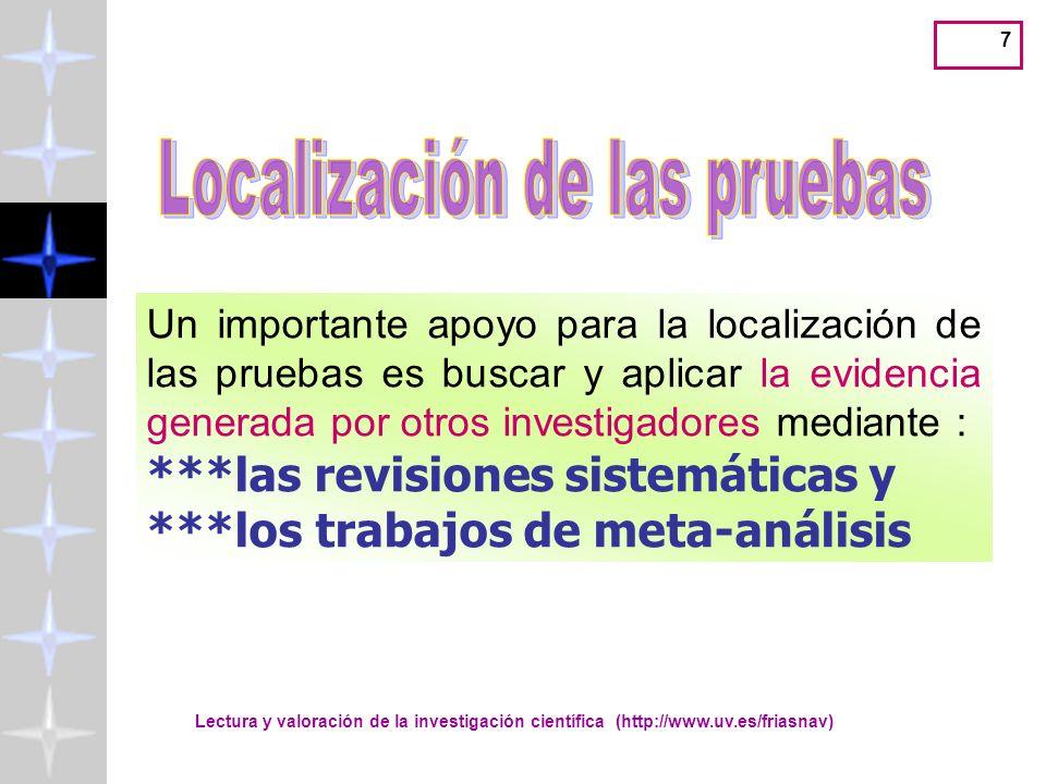 Lectura y valoración de la investigación científica (http://www.uv.es/friasnav) 28 Apartado de MÉTODO