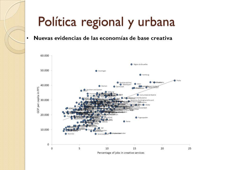 Política regional y urbana Nuevas evidencias de las economías de base creativa