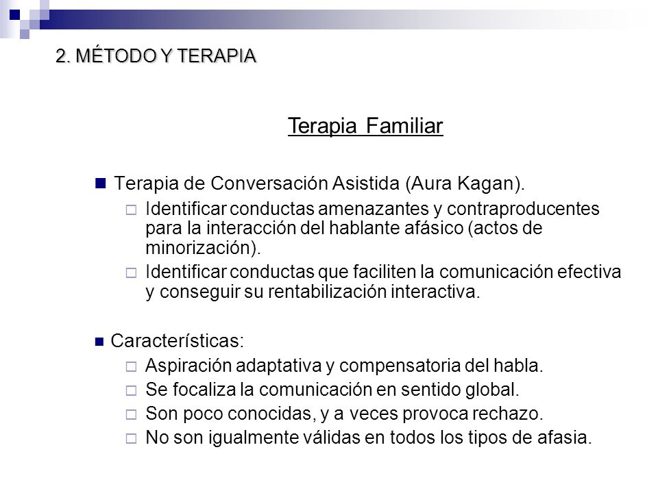 Terapia de Conversación Asistida (Aura Kagan). Identificar conductas amenazantes y contraproducentes para la interacción del hablante afásico (actos d