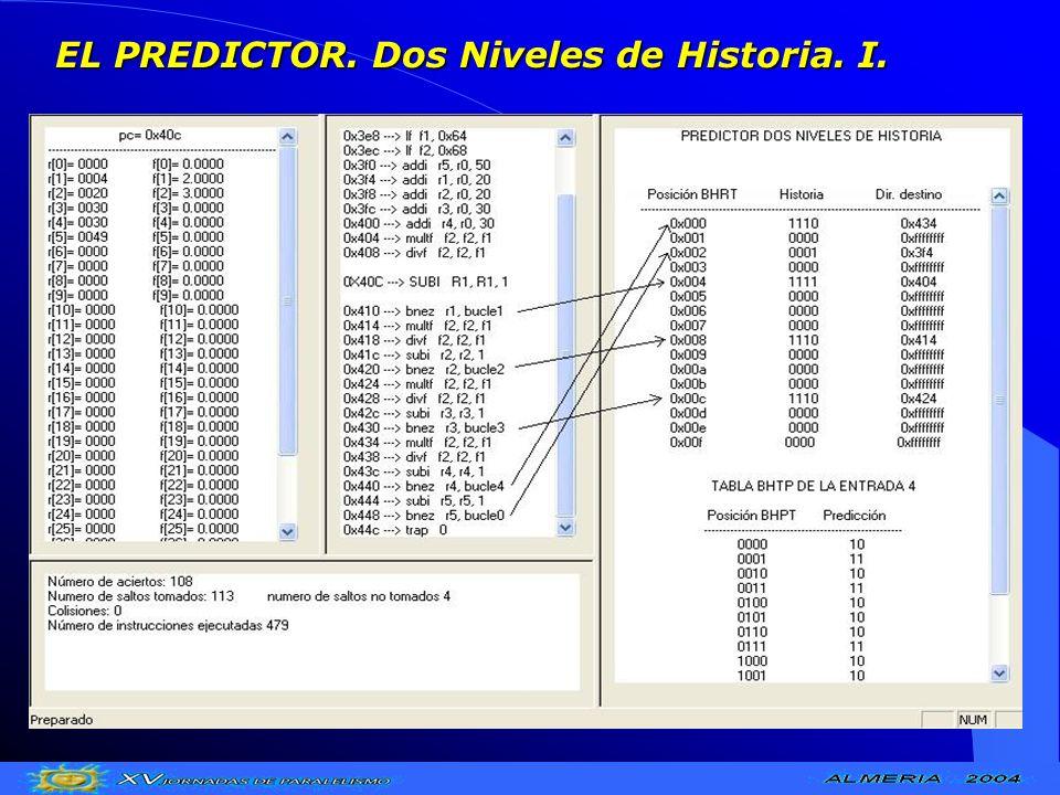 EL PREDICTOR. Dos Niveles de Historia. I.