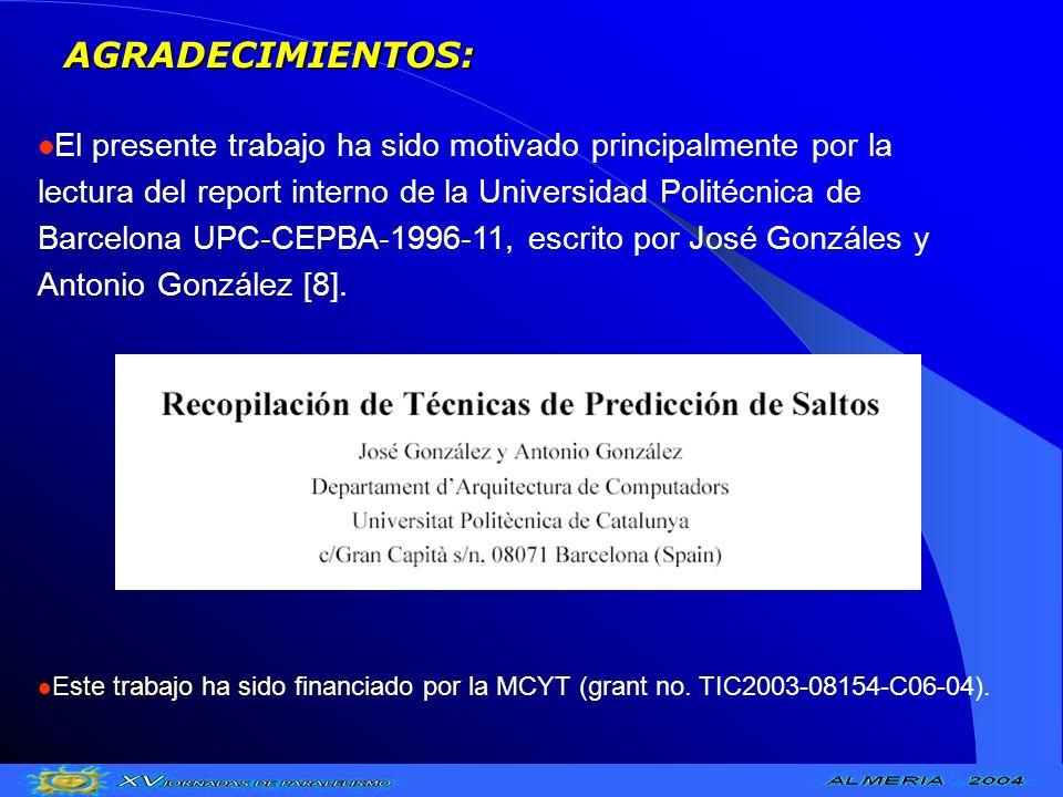 AGRADECIMIENTOS: El presente trabajo ha sido motivado principalmente por la lectura del report interno de la Universidad Politécnica de Barcelona UPC-
