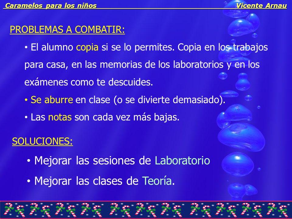 Caramelos para los niños Vicente Arnau Caramelos para los niños Vicente Arnau PROBLEMAS A COMBATIR: El alumno copia si se lo permites. Copia en los tr