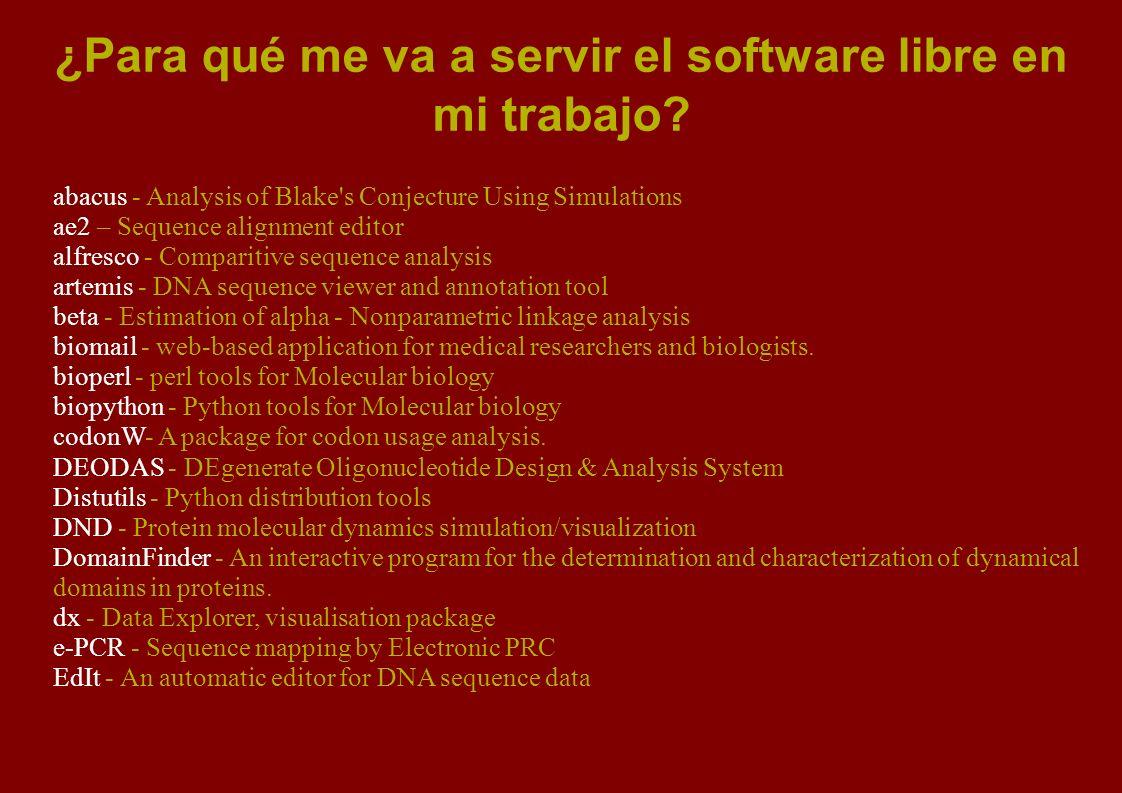 Ejemplo de software libre comercializado