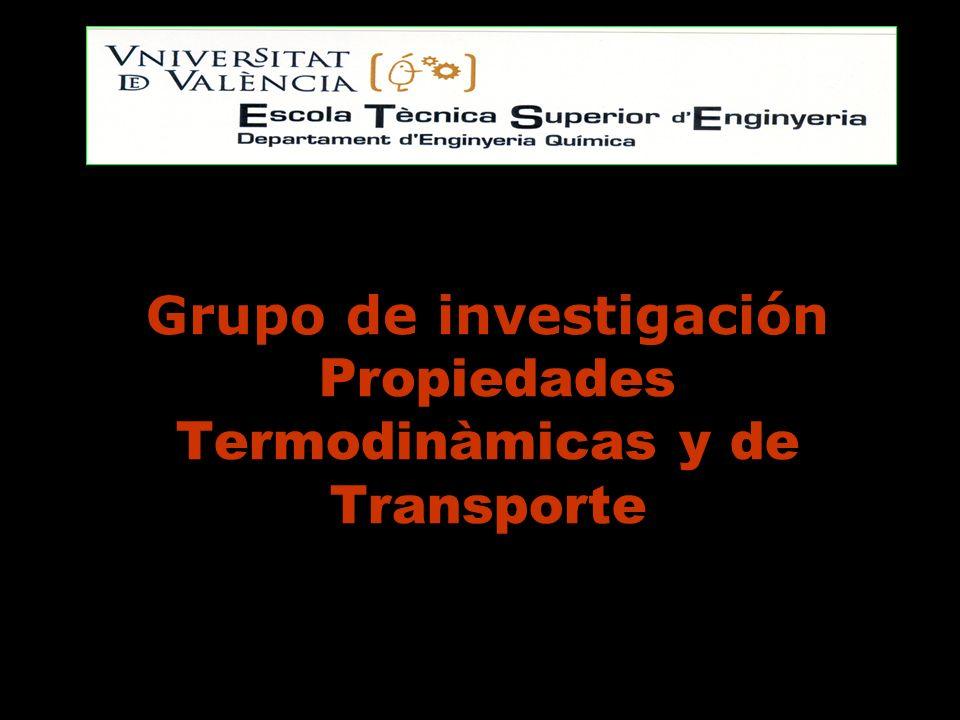 LINEAS DE INVESTIGACION Contribución experimental y teórica a el estudio de propiedades termodinámicas y de transporte.Contribución experimental y teórica a el estudio de propiedades termodinámicas y de transporte.