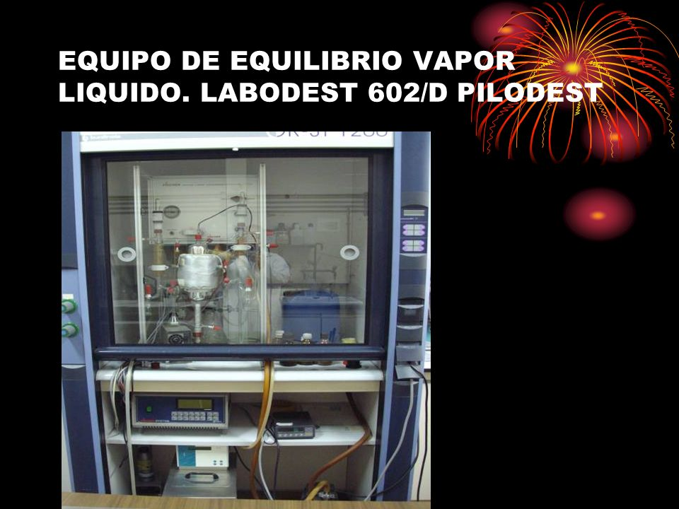 EQUIPO DE EQUILIBRIO VAPOR LIQUIDO. LABODEST 602/D PILODEST