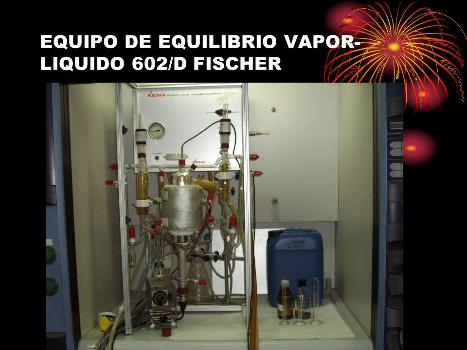 EQUIPO DE EQUILIBRIO VAPOR- LIQUIDO 602/D FISCHER