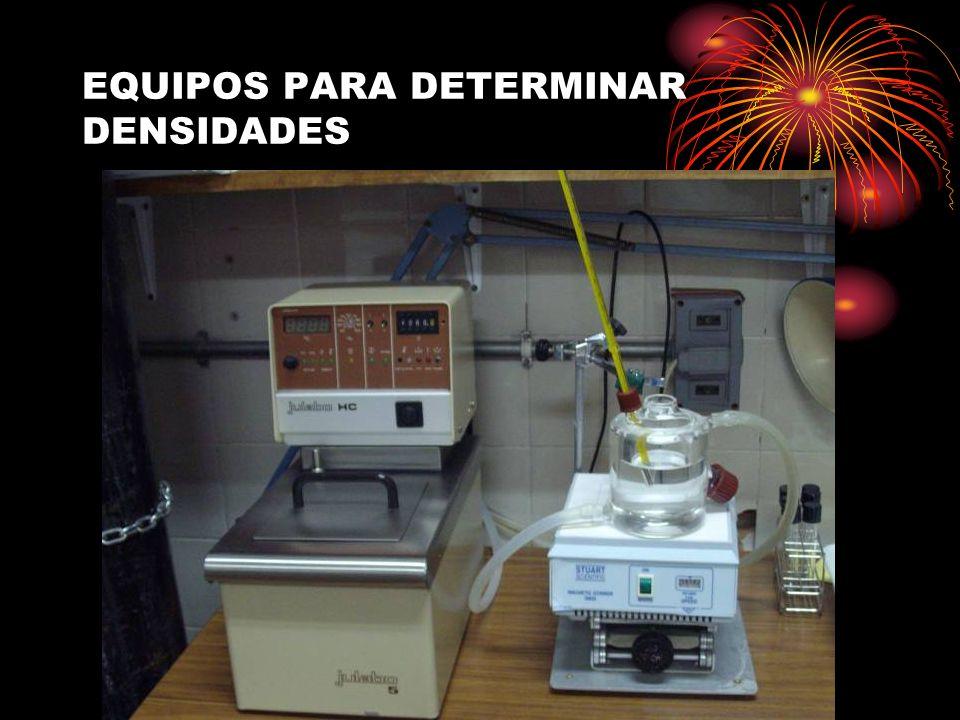 EQUIPOS PARA DETERMINAR DENSIDADES