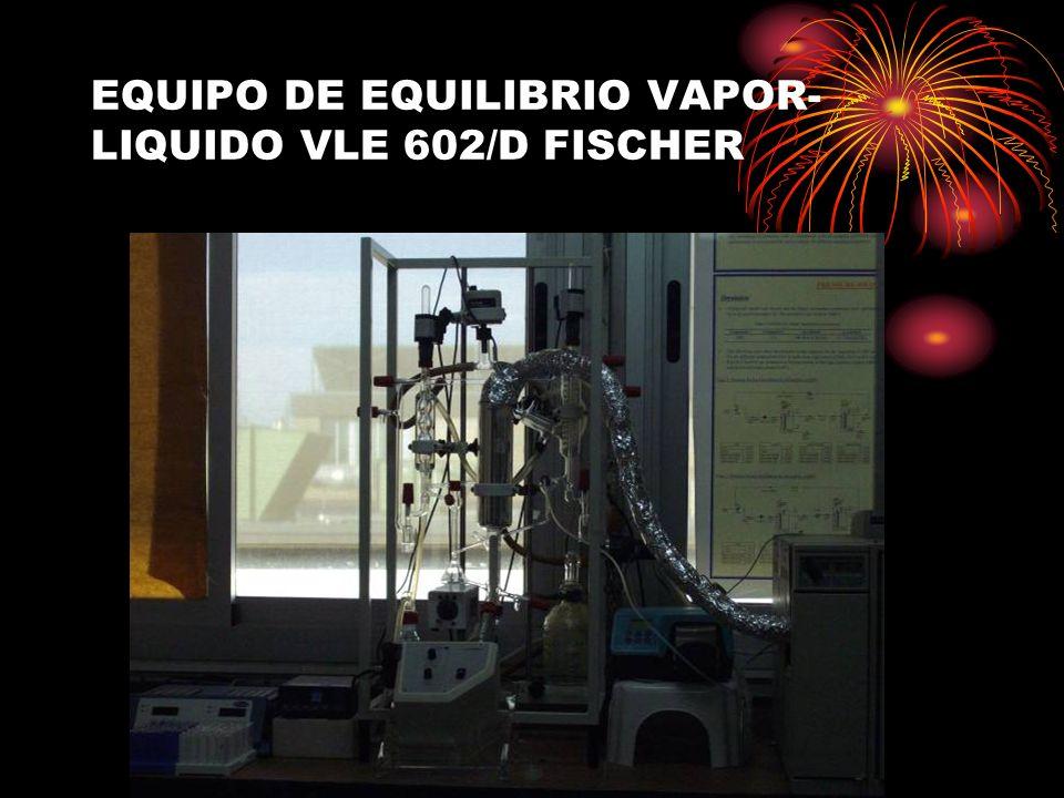EQUIPO DE EQUILIBRIO VAPOR- LIQUIDO VLE 602/D FISCHER