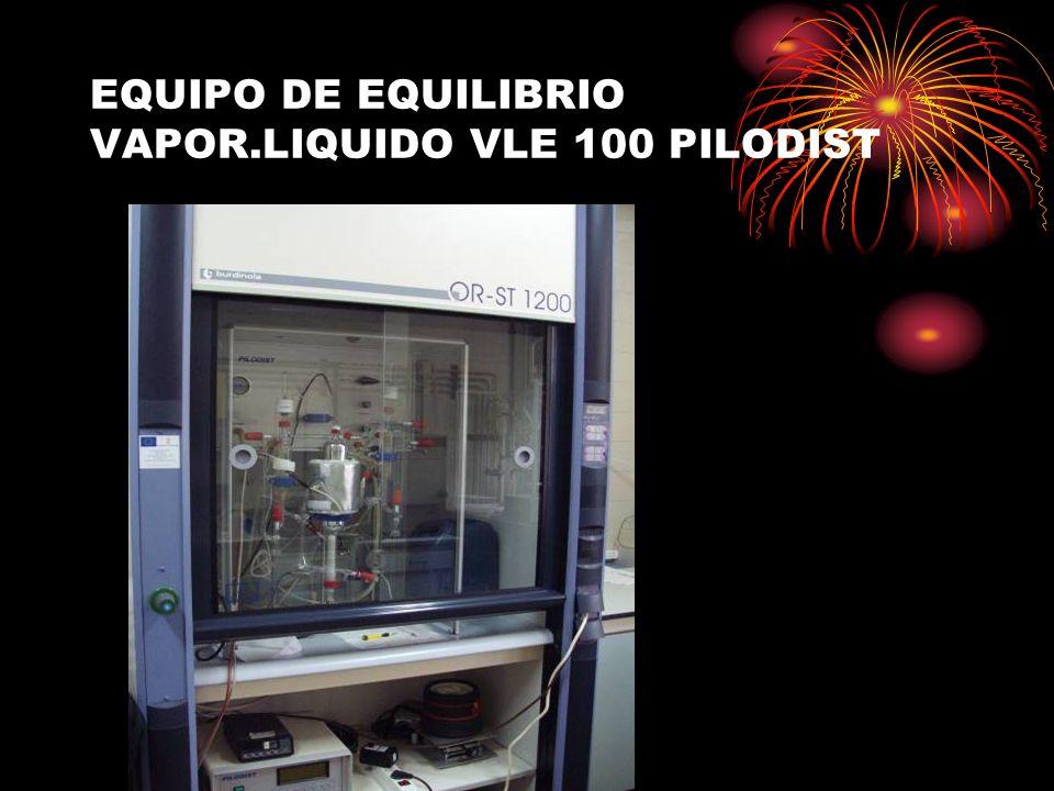 EQUIPO DE EQUILIBRIO VAPOR.LIQUIDO VLE 100 PILODIST