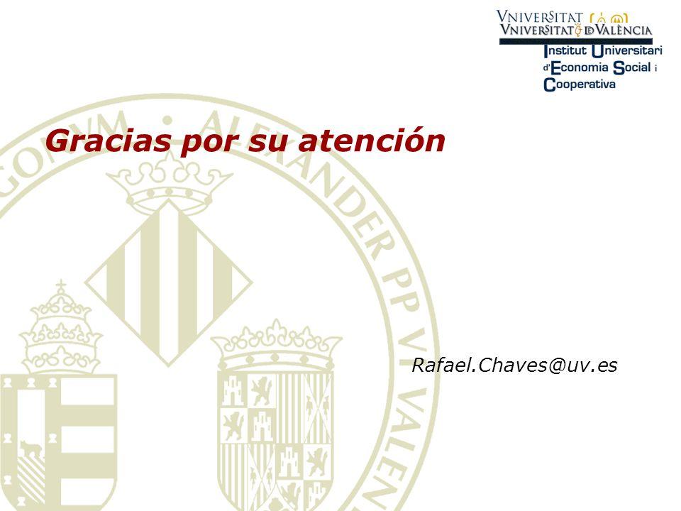Gracias por su atención Rafael.Chaves@uv.es