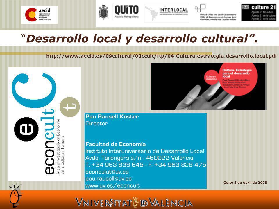 Desarrollo local y desarrollo cultural.