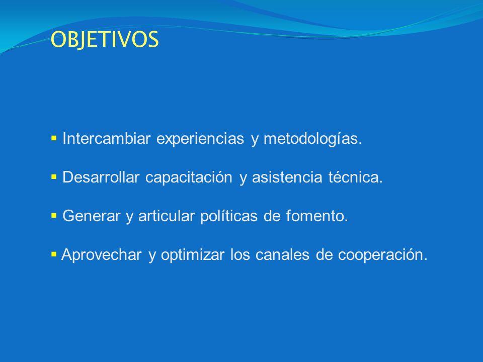 OBJETIVOS Intercambiar experiencias y metodologías. Desarrollar capacitación y asistencia técnica. Generar y articular políticas de fomento. Aprovecha