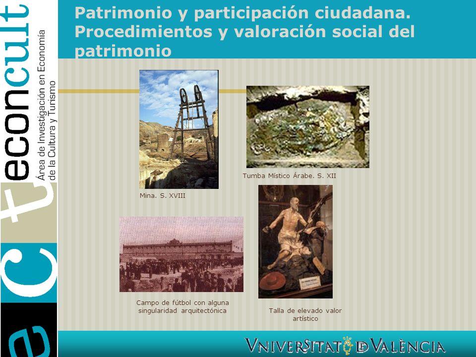 Patrimonio y participación ciudadana.Procedimientos y valoración social del patrimonio 1.
