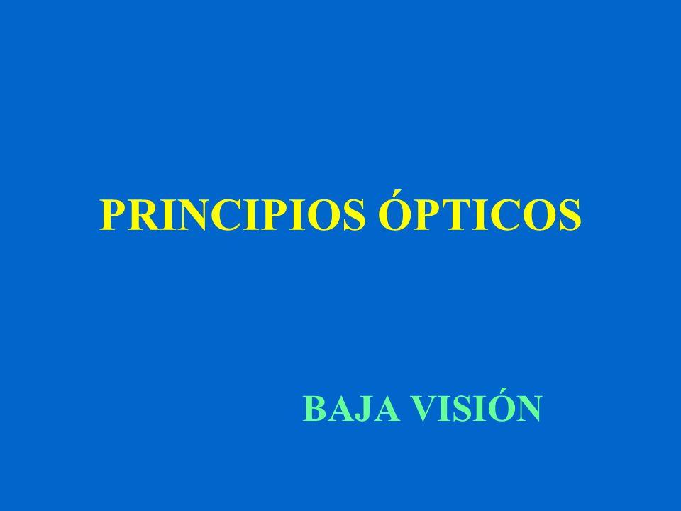 PRINCIPIOS ÓPTICOS BAJA VISIÓN