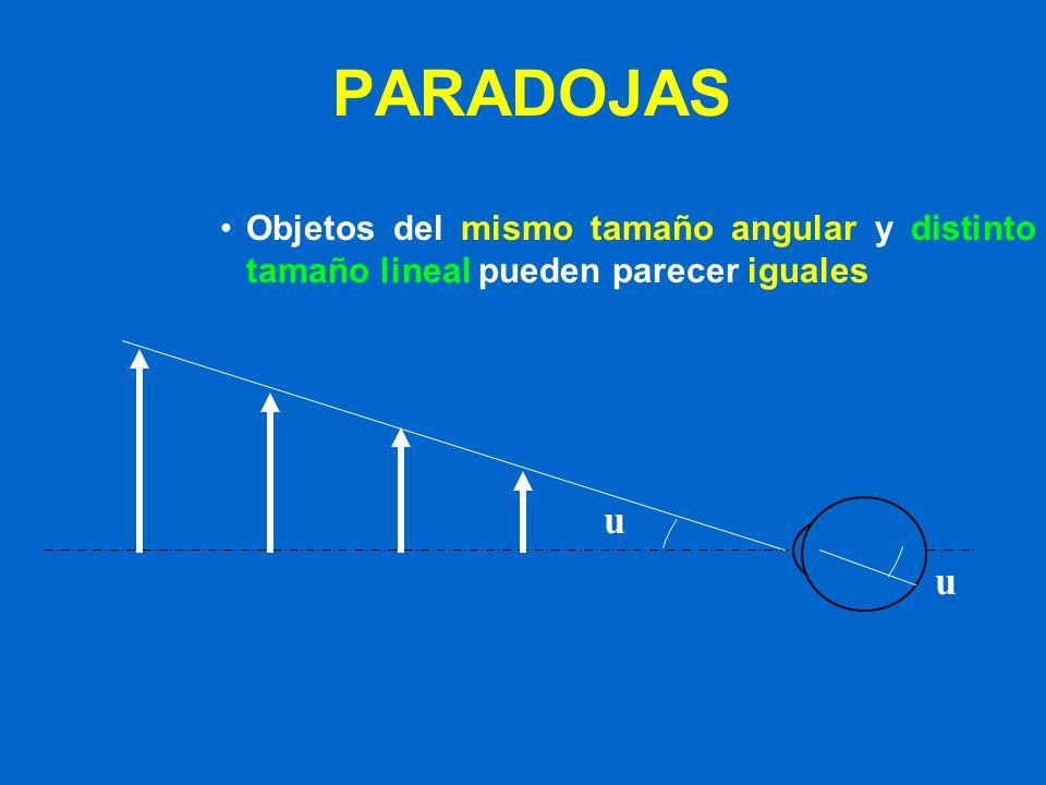AUMENTO ANGULAR PLPL PE y y = tg u/ tg u x x OO u u h