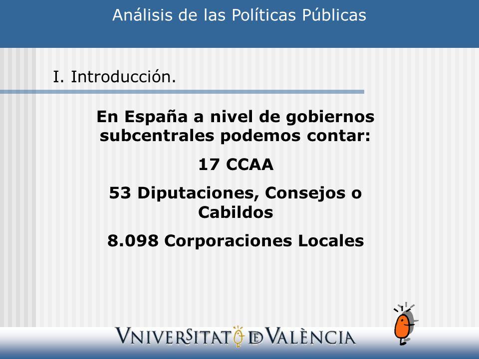 Análisis de las Políticas Públicas I.Introducción.