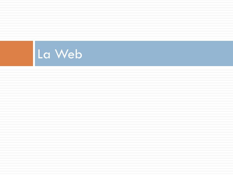 7 páginas web 7 La web o La web es un sistema de información distribuido basado en hipertexto o Los usuarios, mediante un navegador (cliente) solicitan recursos (normalmente páginas web) a un servidor web o el cliente envía una petición o el servidor produce una respuesta (una página HTML) o [puede ser de error]