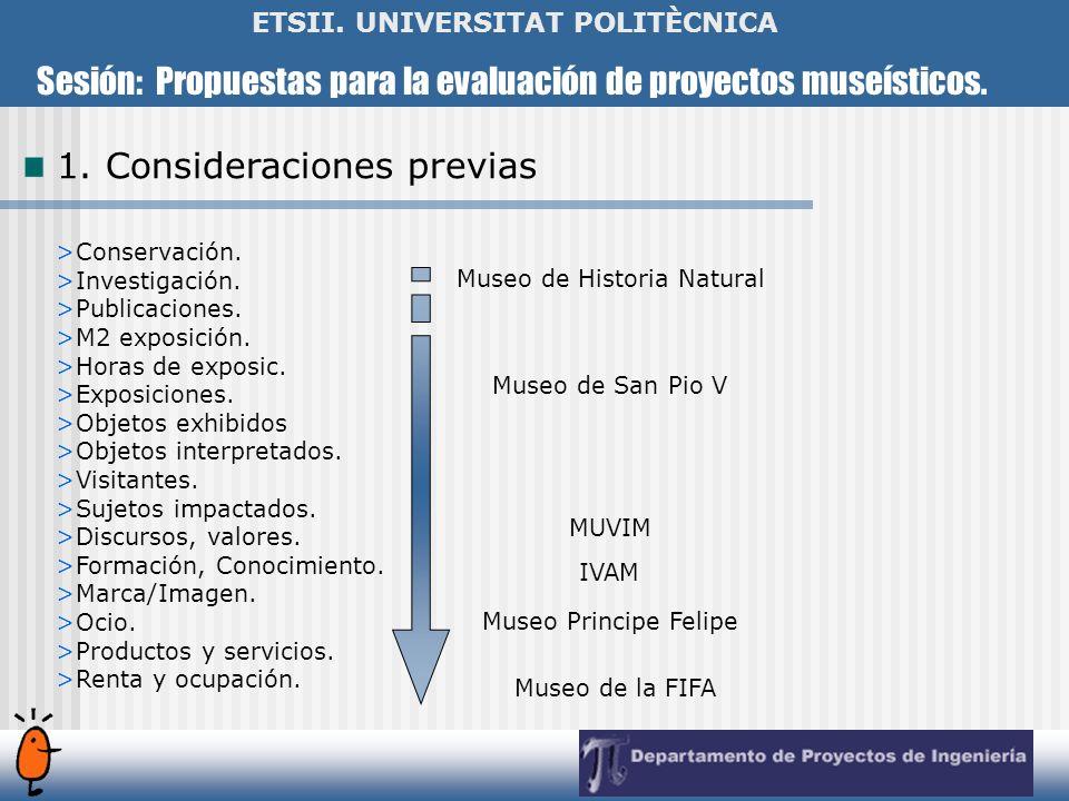 Sesión: Propuestas para la evaluación de proyectos museísticos. ETSII. UNIVERSITAT POLITÈCNICA >Conservación. >Investigación. >Publicaciones. >M2 expo