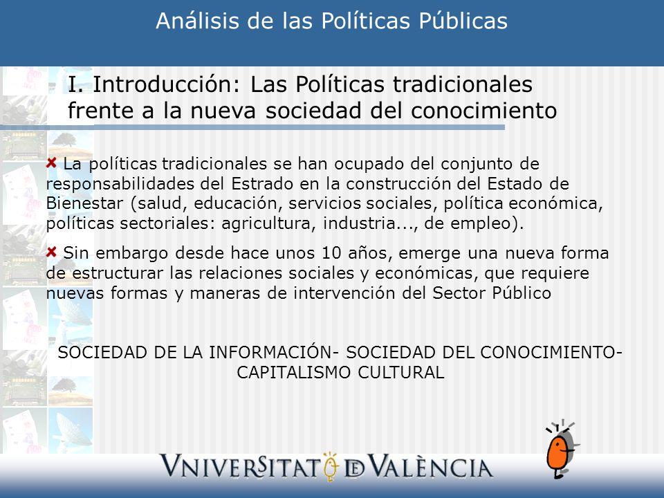 Análisis de las Políticas Públicas I.
