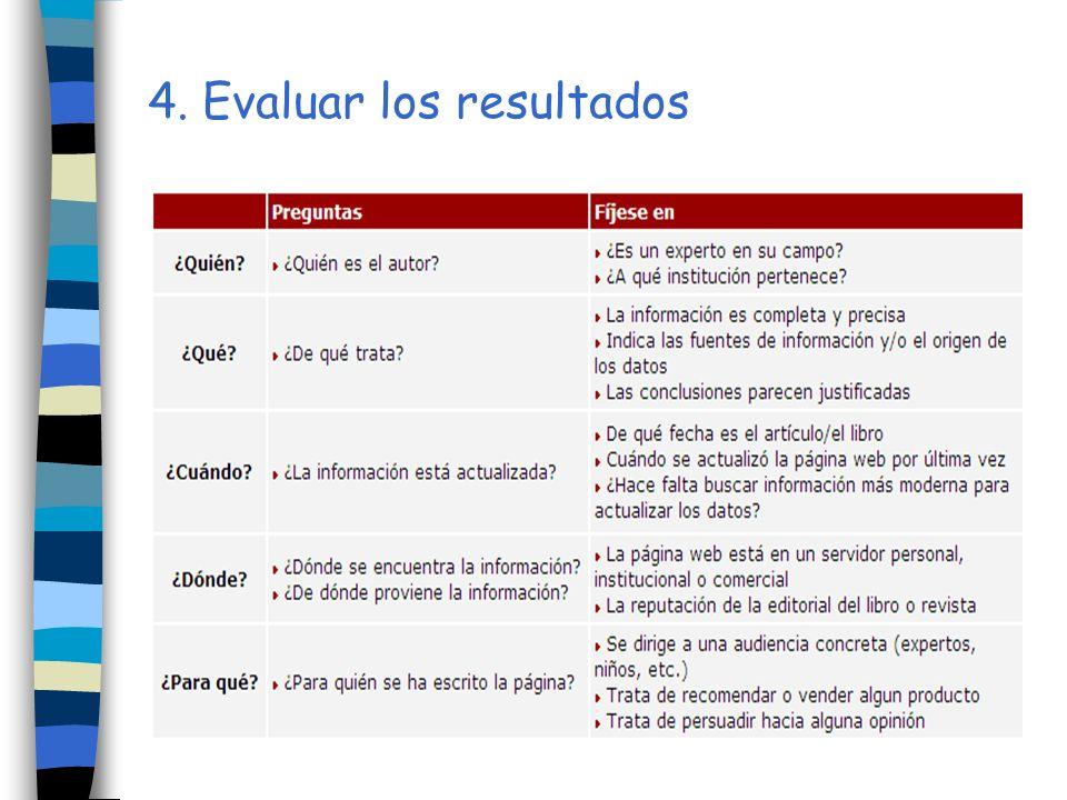 4. Evaluar los resultados