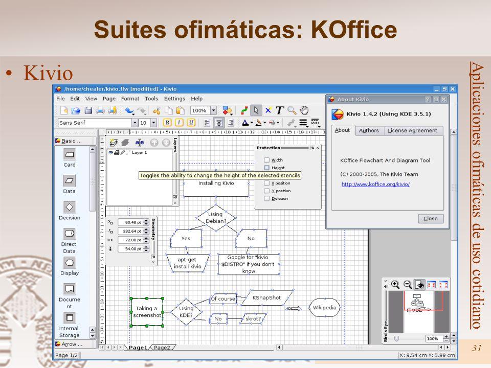 Curso Linux31 Aplicaciones ofimáticas de uso cotidiano Kivio Suites ofimáticas: KOffice