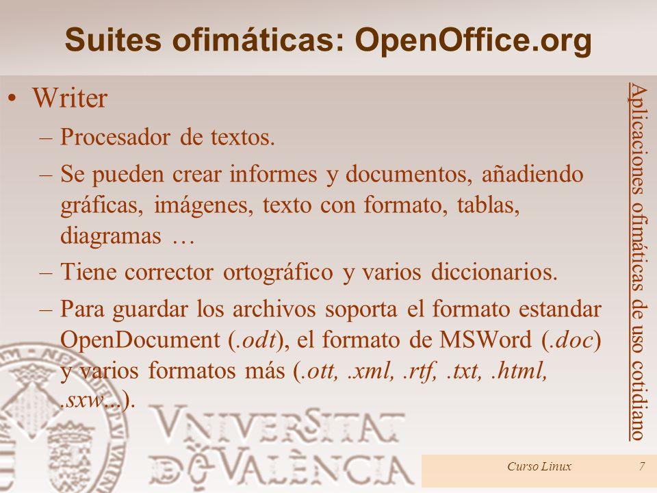 Curso Linux38 GNOME Office –Conjunto de aplicaciones ofimáticas para entorno gráfico de GNOME.