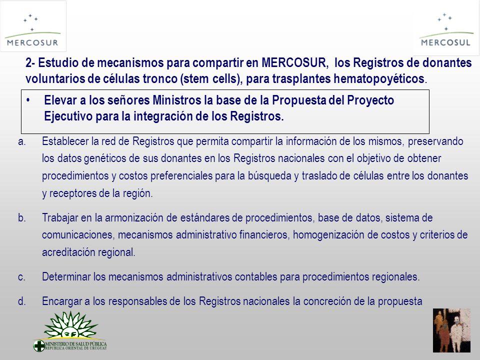 Elevar a los señores Ministros la base de la Propuesta del Proyecto Ejecutivo para la integración de los Registros.