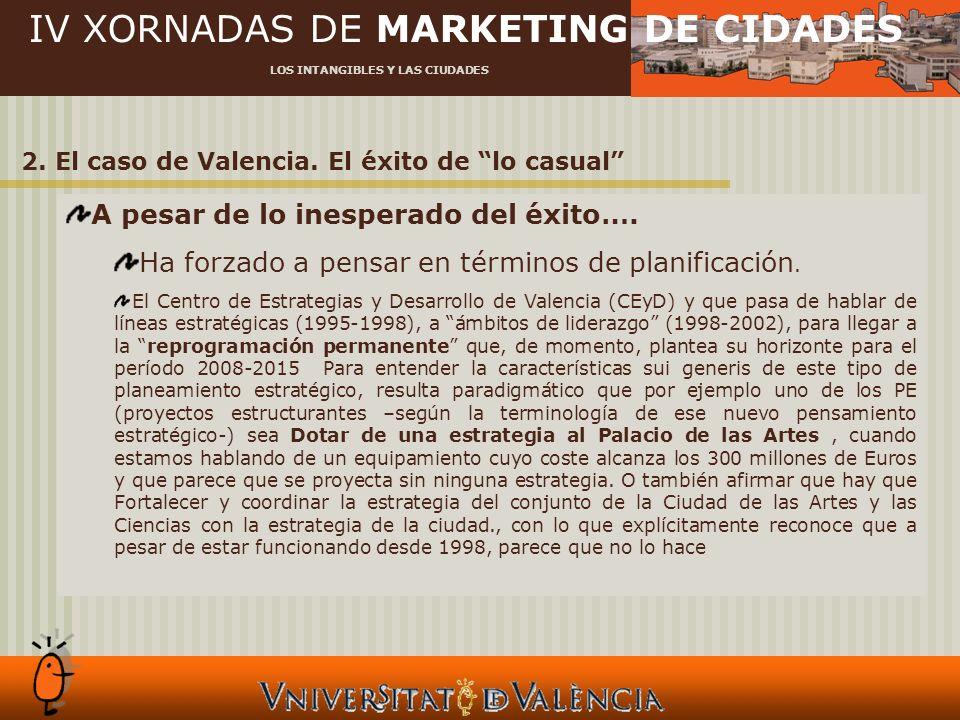IV XORNADAS DE MARKETING DE CIDADES LOS INTANGIBLES Y LAS CIUDADES 2.