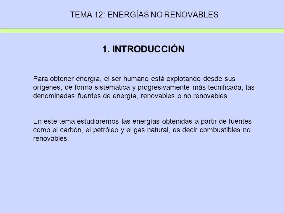 TEMA 12: ENERGÍAS NO RENOVABLES 1.