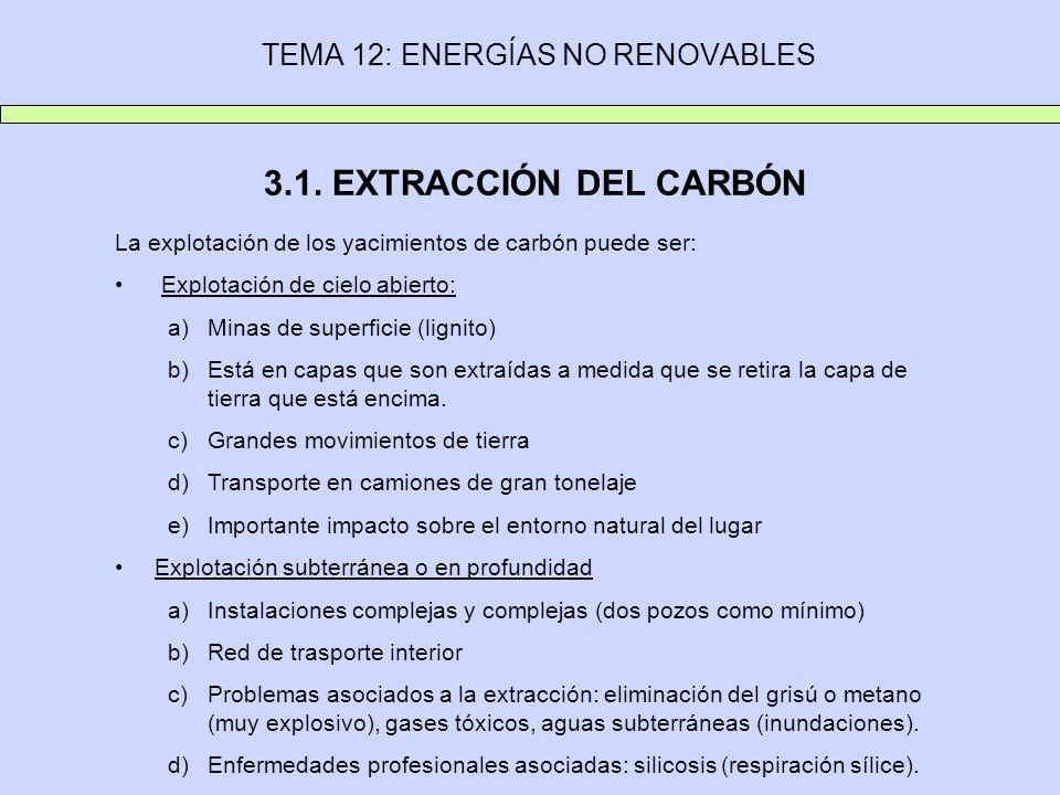 TEMA 12: ENERGÍAS NO RENOVABLES 3.1.