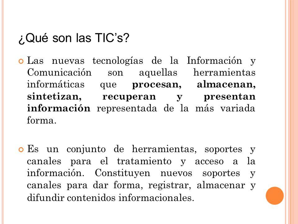 ¿Qué son las TICs.