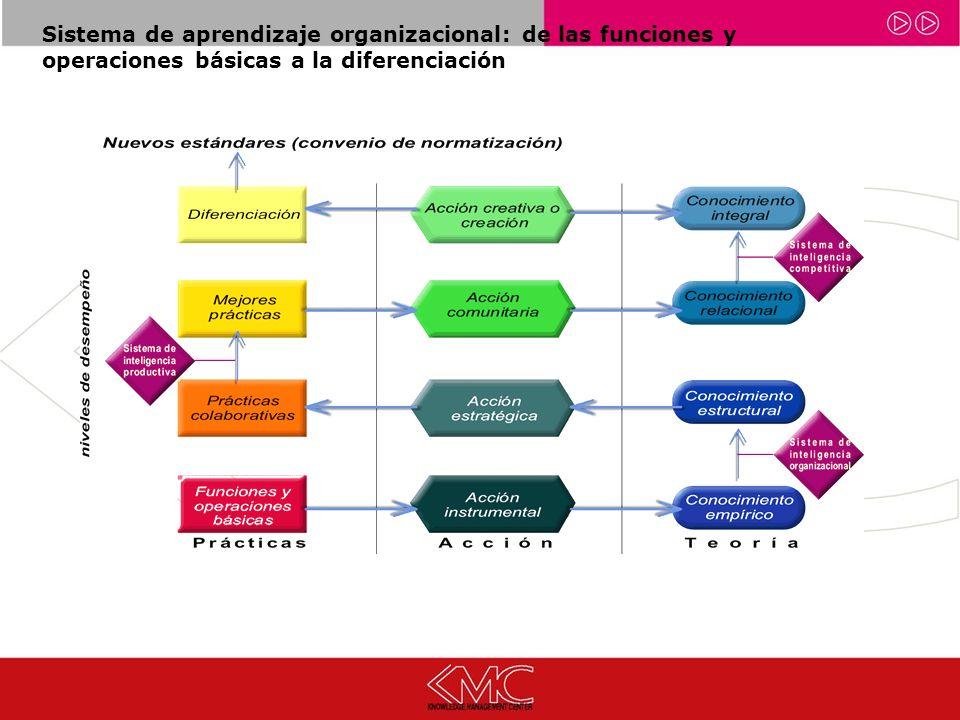 Sistema de aprendizaje organizacional: de las funciones y operaciones básicas a la diferenciación