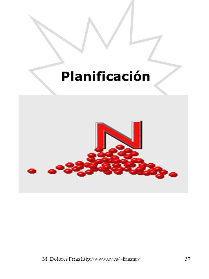 M. Dolores Frías http://www.uv.es/~friasnav37 Planificación