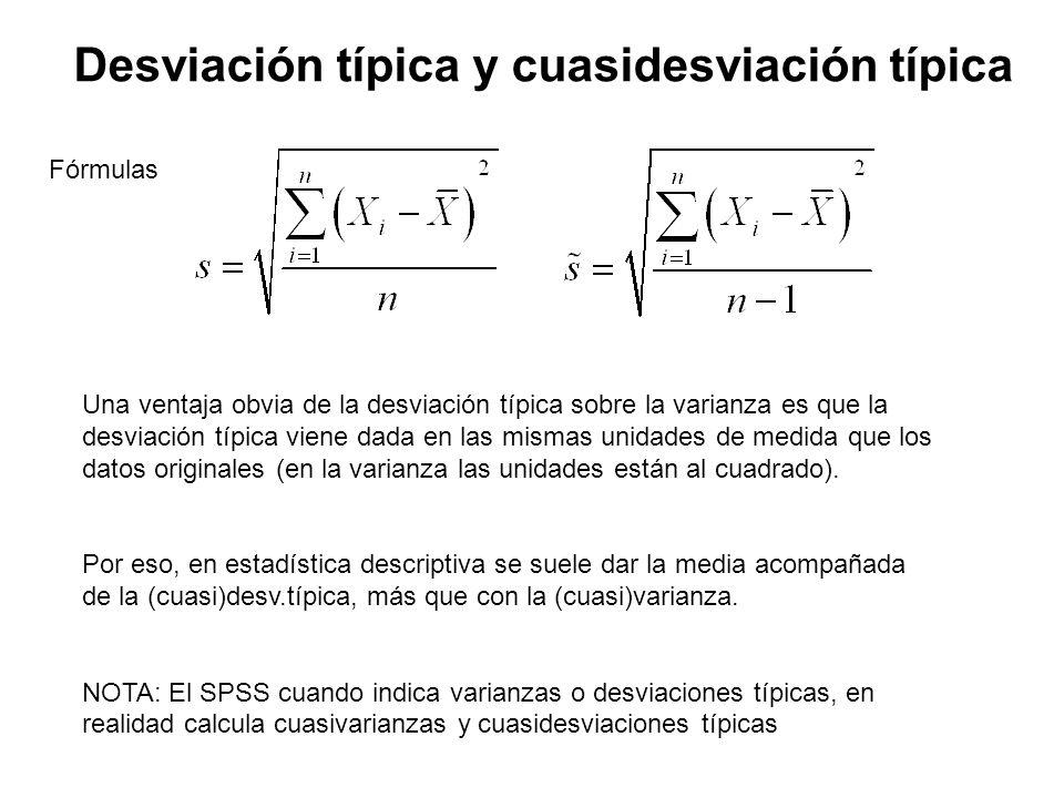 Algunas propiedades de la varianza y desviación típica 1.