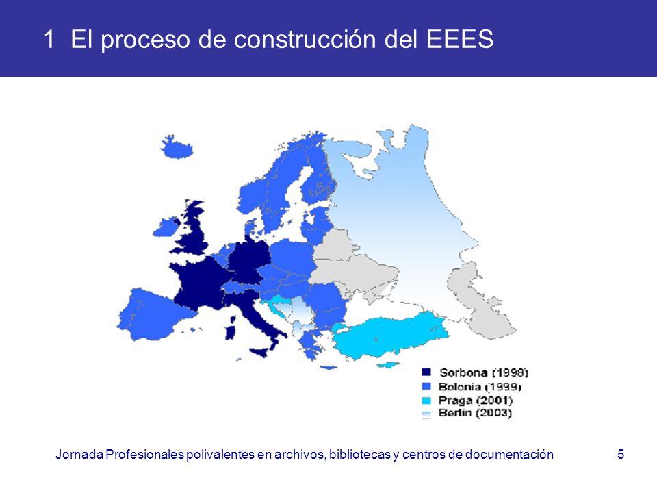 Jornada Profesionales polivalentes en archivos, bibliotecas y centros de documentación5 1 El proceso de construcción del EEES
