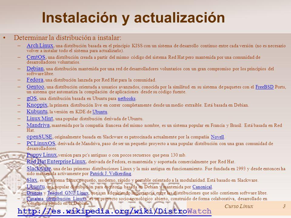 Temario Introducción a los sistemas operativos. Instalación y actualización. Gestión de usuarios y claves. El sistema de archivos. Administración bási