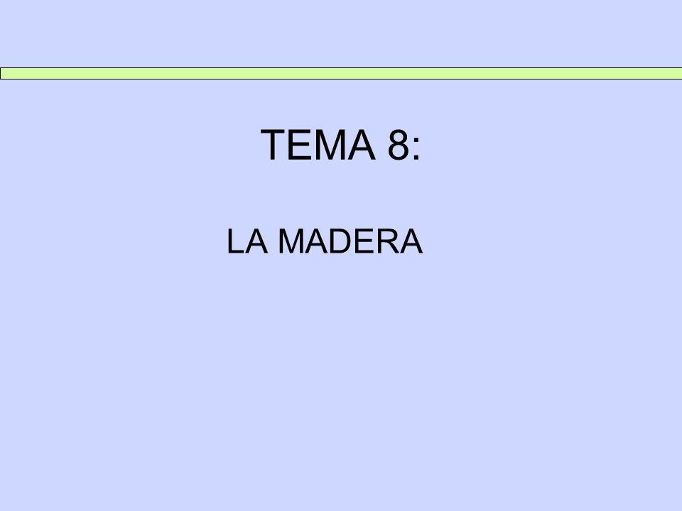 TEMA 8: LA MADERA 1.INTRODUCCIÓN ES UN RECURSO NATURAL UTILIZADO POR EL HOMBRE DESDE SIEMPRE.