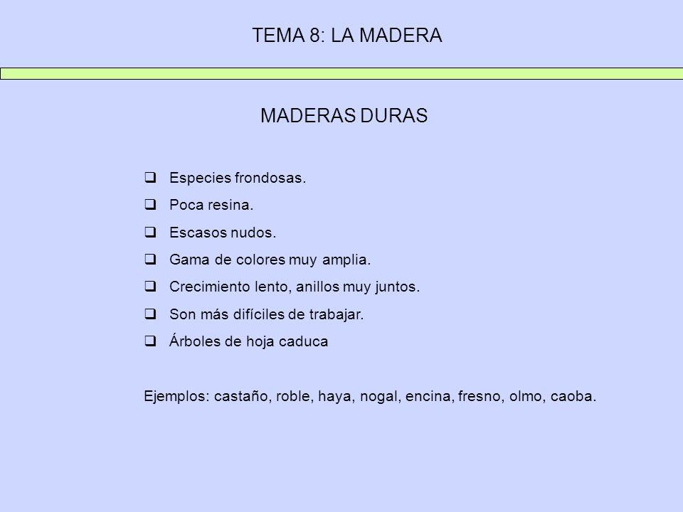 TEMA 8: LA MADERA 2.4.