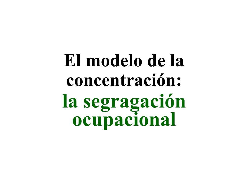 El modelo de la concentración: la segragación ocupacional