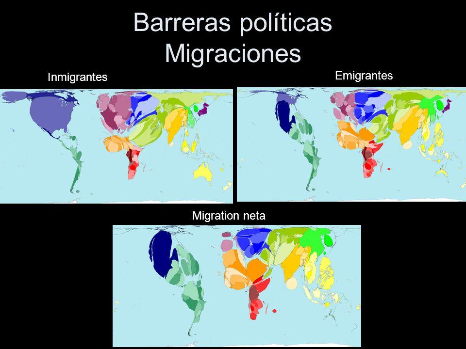 Barreras políticas Migraciones Inmigrantes Emigrantes Migration neta