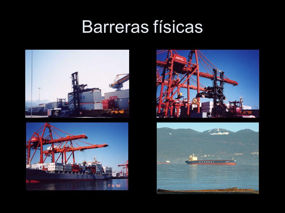 Impedimentos por barreras físicas Barreras naturales dificultan el movimiento de bienes, personas e información.