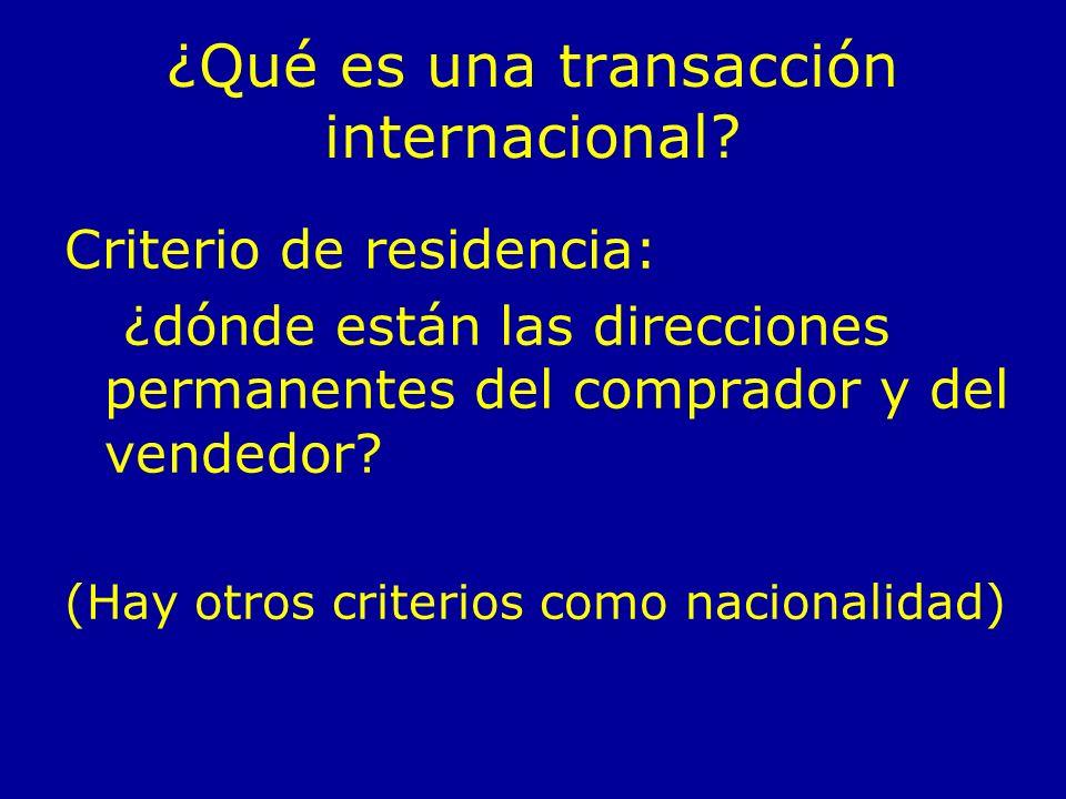 ¿Qué es una transacción internacional.