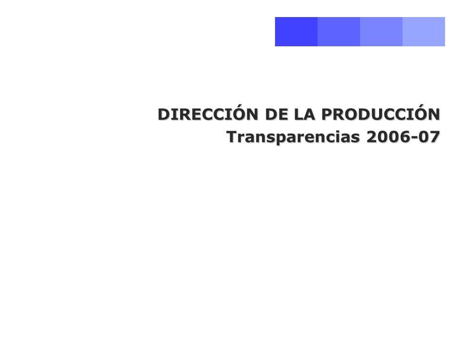 Dirección de la Producción.Curso 2006-2007 Programa Tema 1.