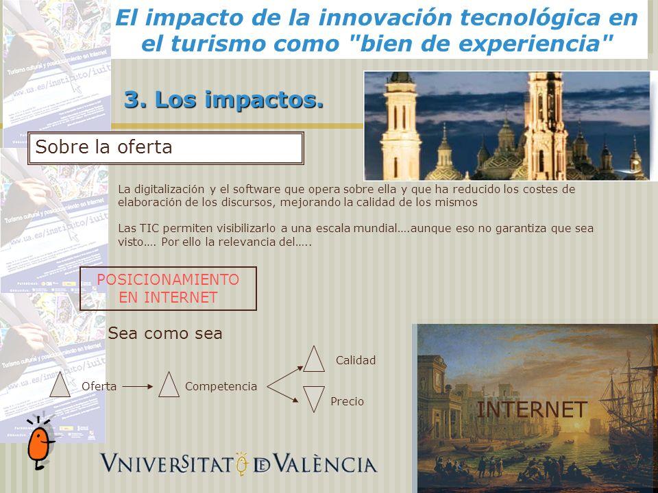 El impacto de la innovación tecnológica en el turismo como bien de experiencia Alicante, 3.