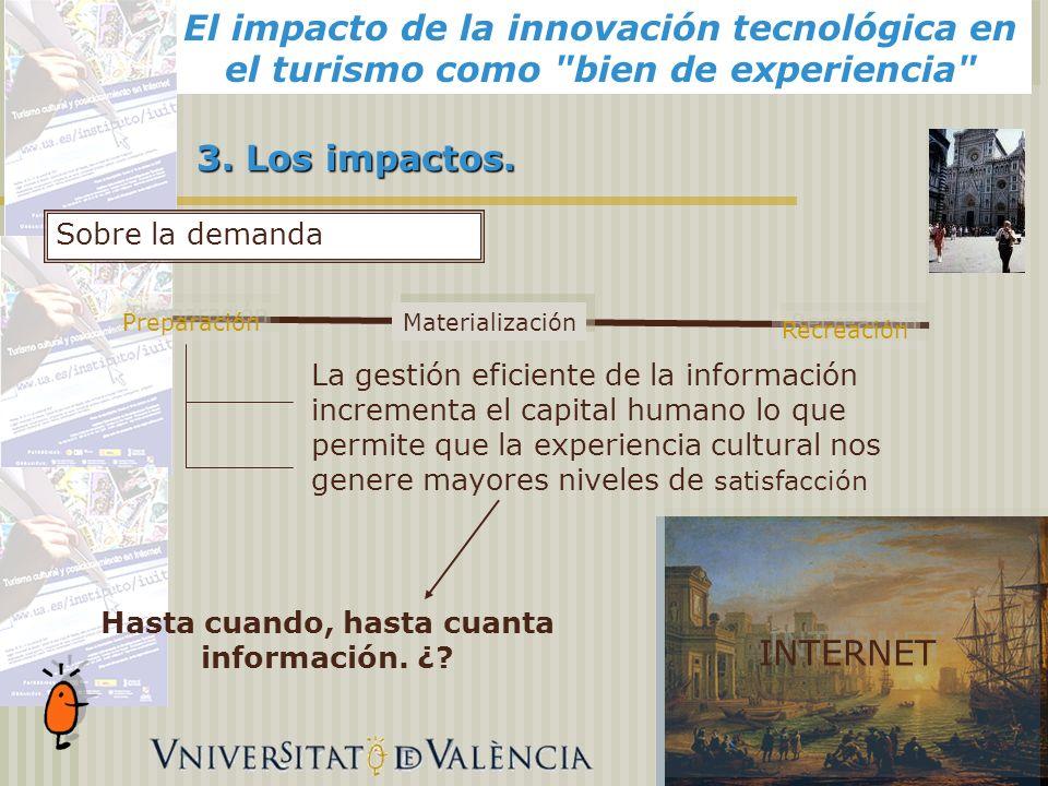 El impacto de la innovación tecnológica en el turismo como bien de experiencia 3.