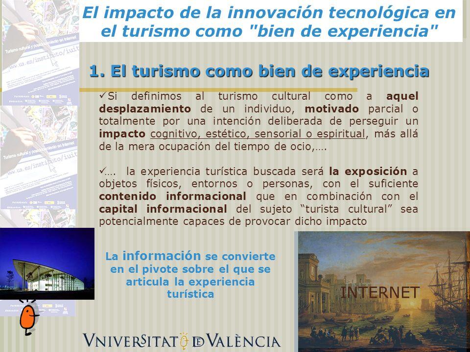 El impacto de la innovación tecnológica en el turismo como bien de experiencia Alicante, 1.