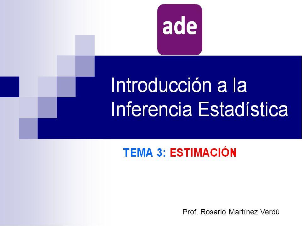 TEMA 3: ESTIMACIÓN 1.Estimación puntual: estimadores y estimaciones.