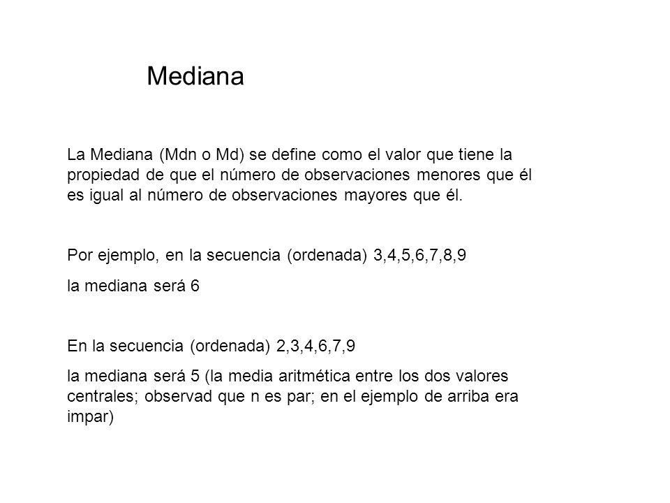 Medidas robustas de tendencia central 4.